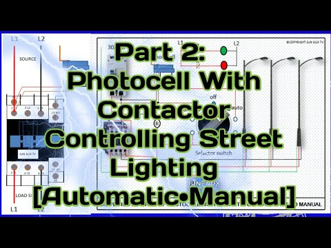 Photocell Part 2 With Magnetic Contactor Controlling Street Lightings Auto And Manual Tagalog Youtube