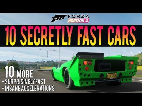 Forza Horizon 4 - 10 MORE Surprisingly Fast Cars! - Insane Accelerations! thumbnail