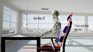 컴퓨터 하는 바른 자세  ( Posture for us…