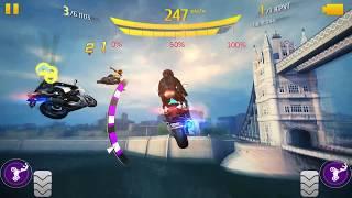 Asphalt 8, FAQ-ты, сколько добавляют трюки на мотоцикле?