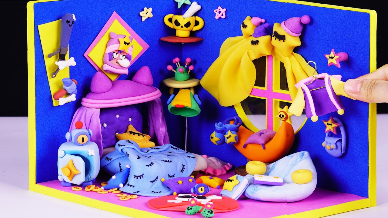 Brawler Sandy Miniature Room - Brawl Stars Clay Art | Miniatures