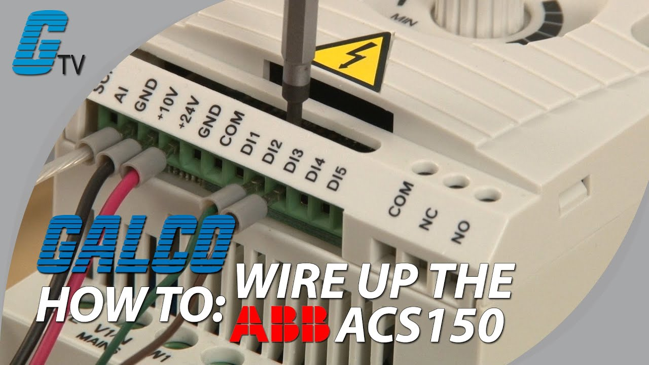 how to wire up an abb acs150 drive youtube Amx Wiring Diagram abb acs355 wiring diagram