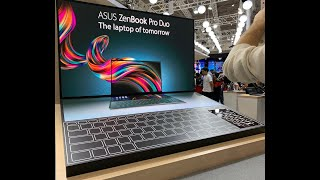 ASUS ZenBook Pro Duo with dual displays - 15.4-inch and 14-inch models