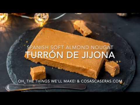 Turrón de Jijona Recipe (Soft Spanish Almond Nougat)