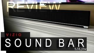 Vizio Sound Bar - S3820w - REVIEW
