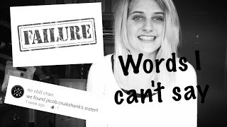 My speech impediment // WORDS I can't say