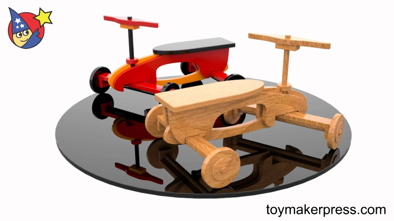 Wood Toy Plans Quick & Easy Rocket Ryder Ride Car