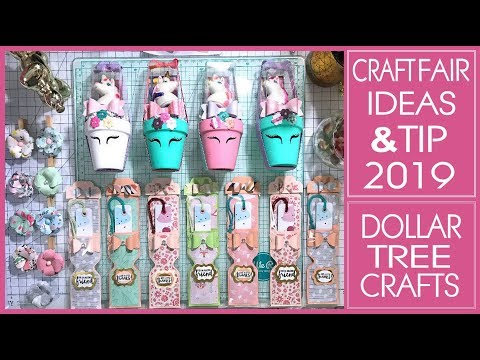 Craft Fair Ideas 2019 - 3 Ideas plus Craft Fair Tip - Dollar Tree Crafts
