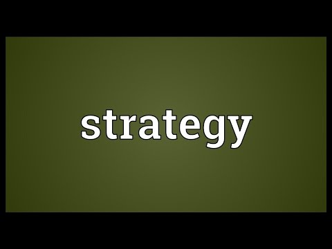 Strategy Meaning