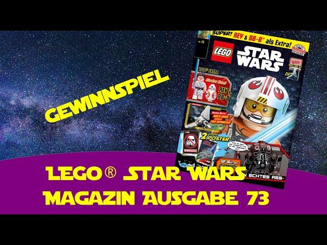Lego Star Wars Magazin Ausgabe 73 - Gewinnspiel - Rey Skywalker und BB8