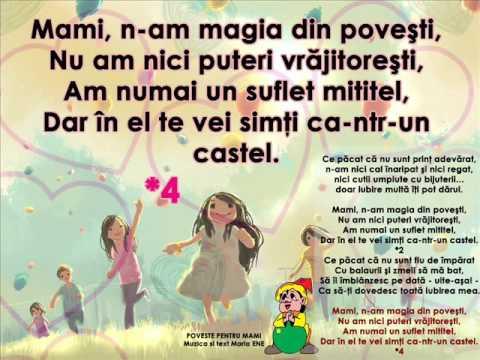 POVESTE PENTRU MAMI – Cantece pentru copii in limba romana