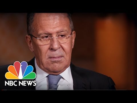 Russia s Foreign Minister Sergey Lavrov (Full Interview) | NBC News