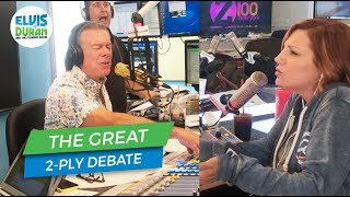 The Great 1-Ply Debate | Elvis Duran Exclusive