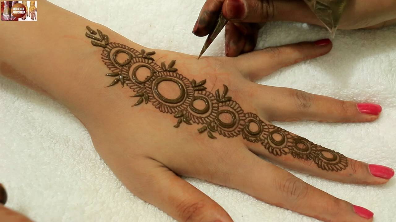 Mehndi Designs For Upper Hands : Easy stylist circular mehndi designs for hands beautiful
