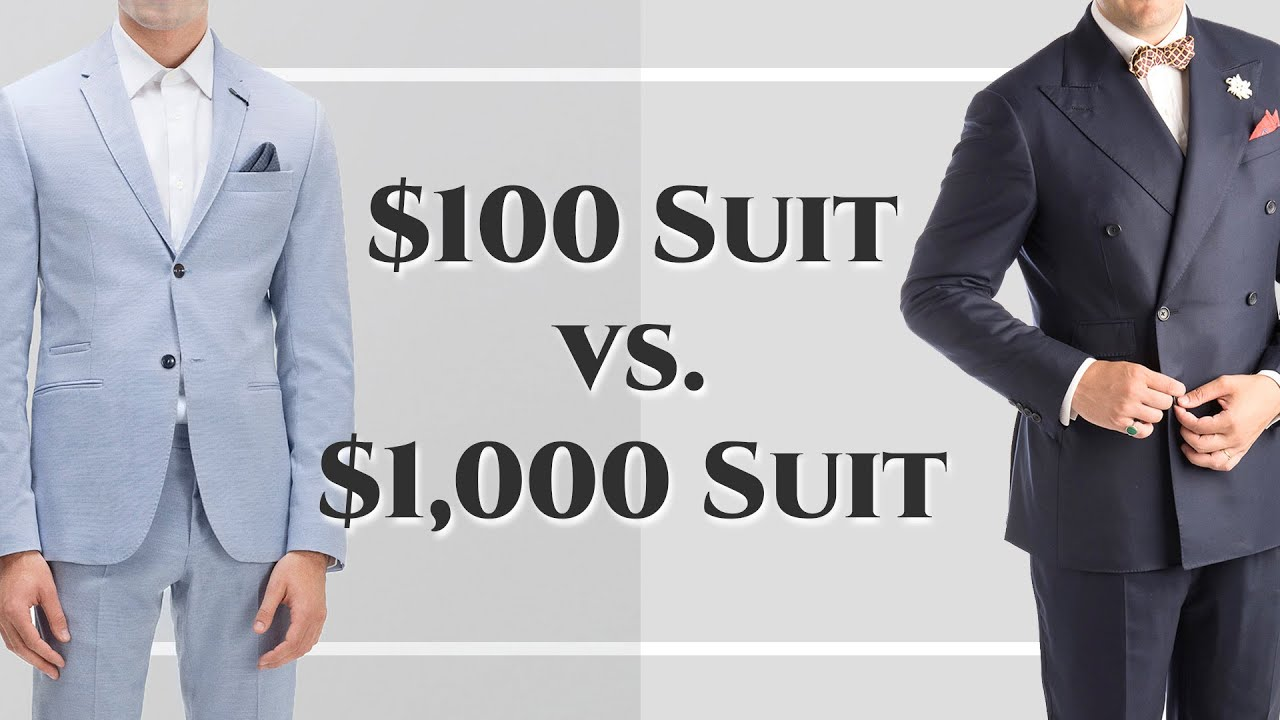 $100 Suit vs $1000 Suit - Differences Between Cheap & Expensive ...