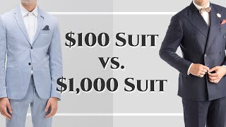$100 Suit vs $1000 Suit - Differences Between Cheap & Expensive Suits - Gentleman