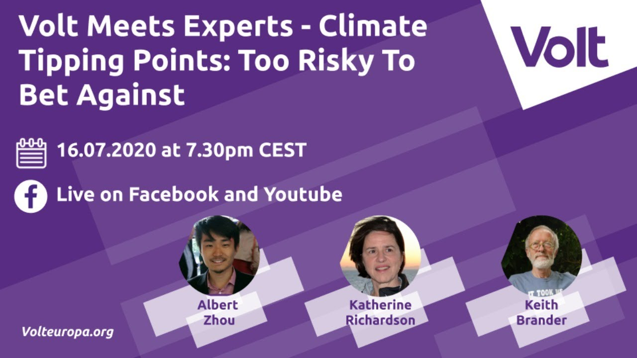 YouTube: Climate Tipping Points: Too Risky To Bet Against - Volt Meets Experts with Katherine Richardson