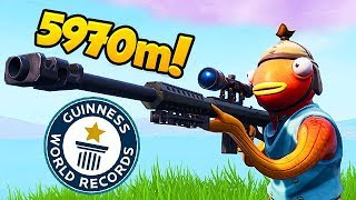 *NEW RECORD* 5970M LONGEST SHOT! - Fortnite Funny Fails and WTF Moments! #432