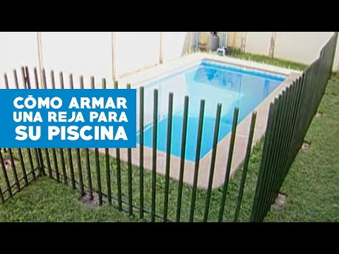 C mo construir una reja para la piscina youtube for Como hacer una pileta
