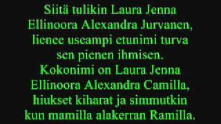 leevi and the leavings-laura jenna ellinoora alexandra camilla jurvanen lyrics