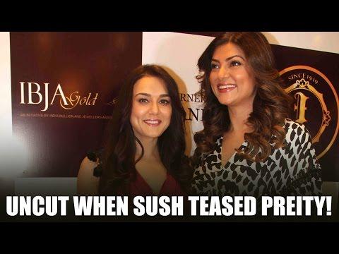 Uncut: Sushmita teases Preity With husband Goodenough's Name | Dia | Sana | Bollywood News 2016