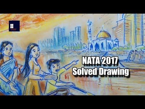NATA 2017 Solved Drawing