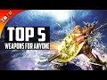 🚩 TOP 5 Weapons For ANY Hunter! 5 Best Weapon Types Monster Hunter World [PS4 Pro]