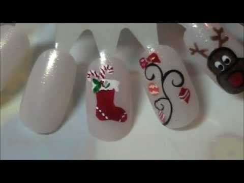 Christmas Nail Design 8 Stocking