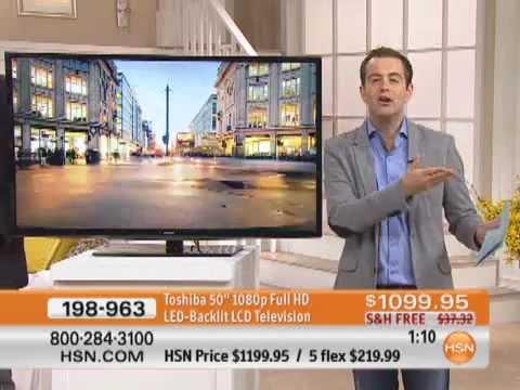 "Toshiba 50"" 1080p Full HD LED-Backlit LCD Television"