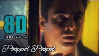 Cover images Pooppol Poopol 8D | Minnale | Madhavan | Reema Sen | Harris Jayaraj | 8DBeatZ