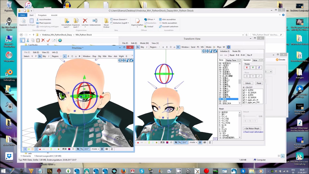 Pmx Editor Eye Bone Tutorial – Dibujos Para Colorear