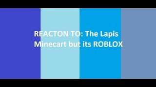 TLM Reacts - Tarw: El carro de minas Lapis pero su roblox