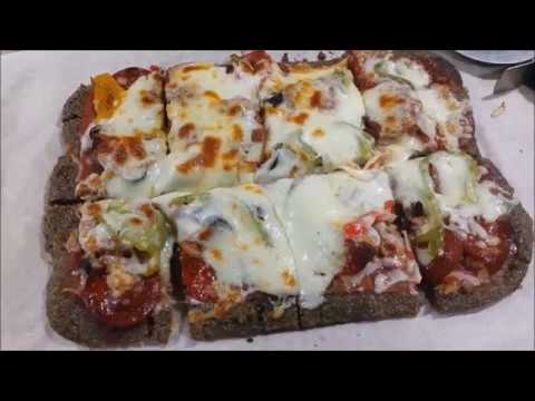 Low Carb, Keto Pizza Crust made from Flax Seed