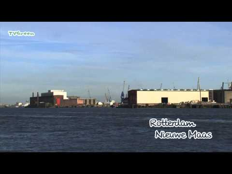 Skyline Nieuwe Maas - Rotterdam seaport