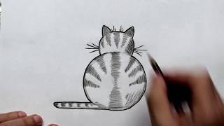 Как Легко нарисовать Кота поэтапно для детей (Ehedov Elnur)How to Draw a Cat Easy Step by Step