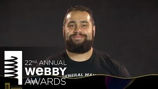 WWE Champions' 5-Word Speech at the 22nd Annual Webby Awards