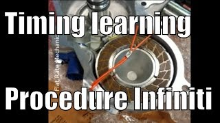 Exhaust valve timing control learning procedure Infiniti G35 P0014 P0024 (no scantool needed)