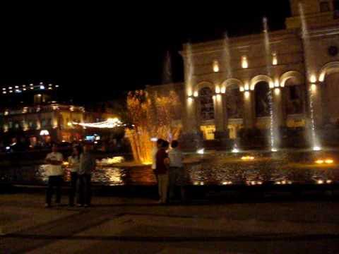 Yerevan summer evening in Republic Square 2009