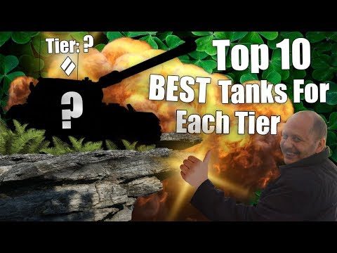 WoT || Top 10 || BEST Tanks For Each Tier
