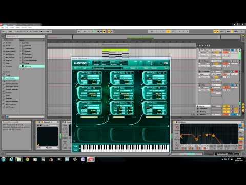 "Absynth 5 tutorial."" Moving, Organ Pad"""