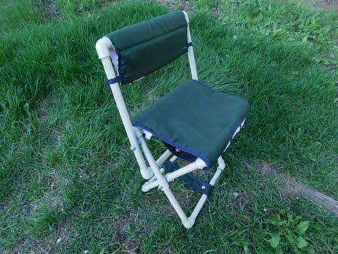 как сделать из раскладушки кресло для рыбалки видео