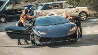 PICKING UP UBER RIDERS IN A LAMBORGHINI HURACAN PRANK! | HoomanTV thumbnail