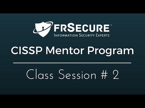 Class Session 2 - FRSecure 2016 CISSP Mentor Program