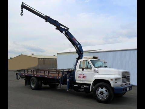 ford f700 hiab knuckle boom crane truck