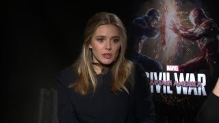 Captain America Civil War Jeremy Renner and Elizabeth Olsen Interview