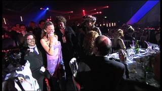 Kylie Minogue wins International Female Award presented by Russell Crowe | BRIT Awards 2002