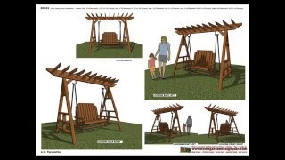 Furniture Plans: Garden Swing - Teak Table - Dinning Table - Chair Plans Construction
