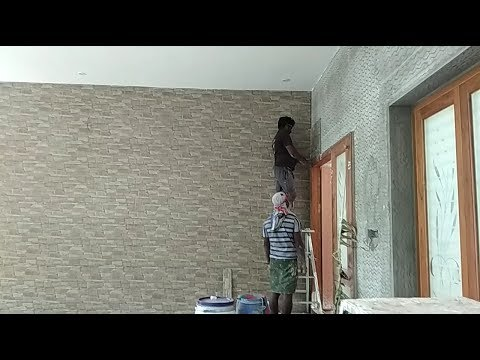 car-parking-wall-tiles-installation-|-sitout-|-elevation