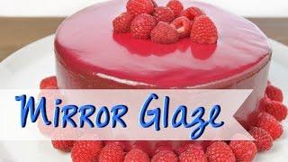 MIRROR GLAZE Rezept [ohne Gelatine] | Spiegelglasur selber machen - Torten ohne Fondant [deutsch]