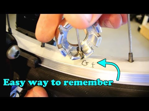 Straighten a bike wheel with the simple 'Gt' method (truing)